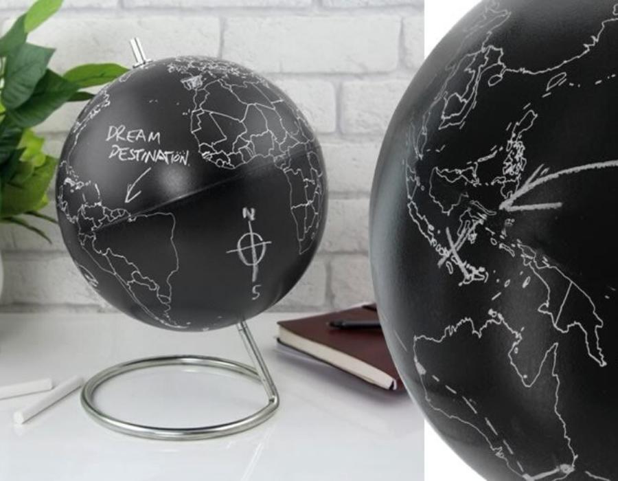 mappamondo lavagna da colorare regalo viaggiatori