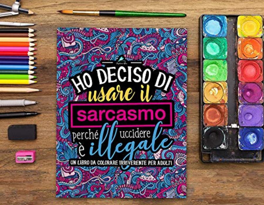 regalo donna album colorare parolacce stress