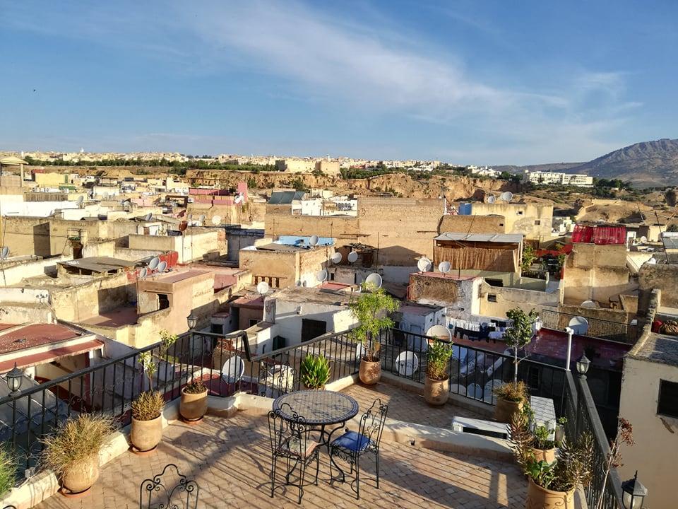 colazione fes marocco tetto riad